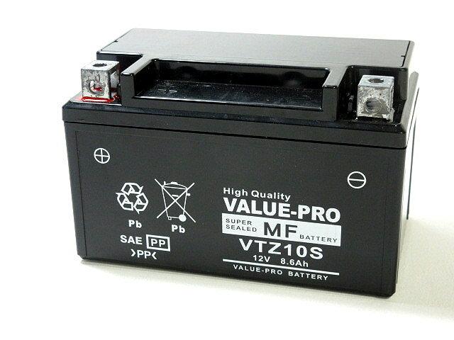 【新品】高性能バッテリー VTZ10S ◆[ヤマハ:〜400] ドラッグスター400[VH02] YTZ10S TTZ10S FTZ10S DTZ10S GTZ10S 他互換