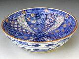 日本の代表的な京都の伝統工芸の逸品を激安価格でお届けします。京焼・清水焼 鉢 BAW984 色絵割古紋 五.五寸鉢