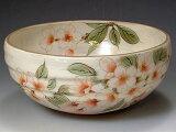 日本の代表的な京都の伝統工芸の逸品を激安価格でお届けします。京焼・清水焼 鉢 トウア625 白掛桜 六寸鉢