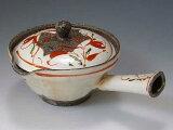 日本の代表的な京都の伝統工芸の逸品を激安価格でお届けします。京焼・清水焼 急須 DKS147 赤絵粉引 急須