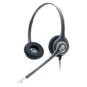 HD036NDX コールセンター 業務用電話ヘッドセット、固定電話用電話ヘッドセット、高感度マイク・ノイズ低減・壊れにくい設計、アンプなしで接続タイプ