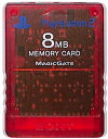 PS2 SONY製 メモリーカード【8MB】 (クリアレッド)プレステ2【中古】