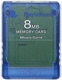 PS2 SONY製 メモリーカード【8MB】 (クリアブルー)【中古】