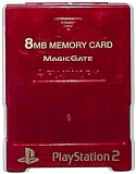 PS2 内存卡【8MB】MAJICGATE制(红色)【中古】[PS2 メモリーカード【8MB】 MAJICGATE製 (レッド)【中古】]