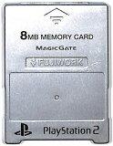 PS2 内存卡【8MB】MAJICGATE制(银)【中古】[PS2 メモリーカード【8MB】 MAJICGATE製 (シルバー)【中古】]