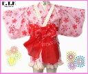 アウトレット 訳アリ 浴衣 子供浴衣 ETK キラキラ桜柄 サンドレス浴衣3点セット ピンク 80cm 日本製 綿100%