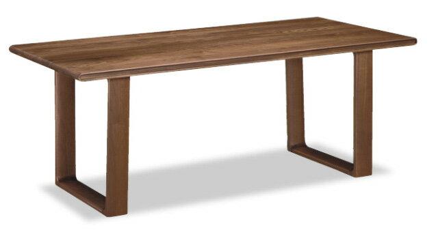 カリモクDU5632/165cmダイニングテーブル/食卓テーブル/配膳台/食事机/テーブルのみ/オーク材/楢材/ナラ/送料無料/日本製家具:エヒラ家具e-flat支店 畳でも使えるシンプルながらこだわりの加工の2本脚
