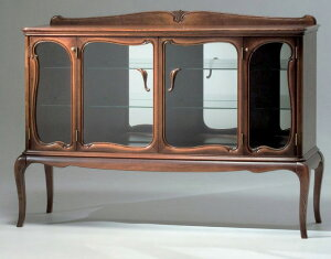 【KOBO】サイドボード ガラス飾り棚 アンティーククラ