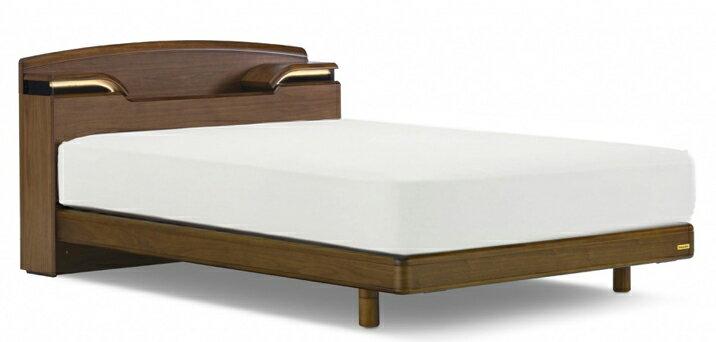 フランスベッド/RD-143C LG/シングル/レッグタイプ/脚付き/シンプル/宮付き・棚付きLED照明/ナチュラル/LT-530マットレス付き/日本製家具 無垢材を贅沢に使った、シンプルで飽きのこないデザイン