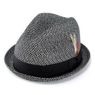 帽子男式帽子女式帽子紐約春夏 2269 SewnMixStingy 稻草帽子黑黑 (男士草帽帽和商店男式帽子男士帽子黑色男裝帽子草帽秸稈 30 多歲 40 多歲 50 年代 60 年代 70 年代時尚雙關)