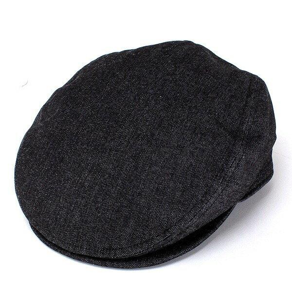 ハンチング メンズ デニム 帽子 日本製 コットン ハンチング帽 無地 シンプル カジュアル 紳士帽子 サイズ調整可能 Mサイズ Lサイズ キャップ 黒 ブラック [ ivy cap ] (ぼうし 帽子通販 ファッション おしゃれ プレゼント) 父の日