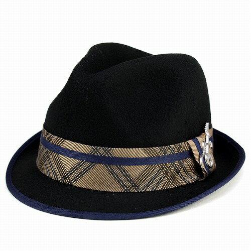 ハット メンズ サンタナ 中折れハット フェルト 帽子 秋冬 ぼうし 音楽 ファッション CARLOS SANTANA