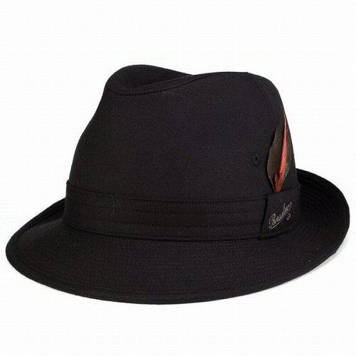 Borsalino 帽子 ボルサリーノ ハット メンズ 中折れハット ウール フラノ borsalino 帽子 紳士 カジュアル ファッション ニューレスコー サイドフェザー 黒 ブラック (ぼうし 帽子 おしゃれ 帽子 通販 男性 オシャレ 中折れ帽子 中折れ帽) [fedora]