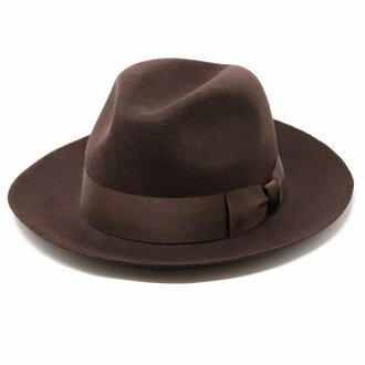 甚而帽子男裝 MAZZONI 秋冬義大利帽子帽氊帽崇義感到在義大利甚而帽子茶布朗 (40 多歲 50 年代 60 年代 70 年代時尚男人帽子平原帽子羊毛羊毛帽子 30 色的氊帽秋天冬天氊帽) [fedora]