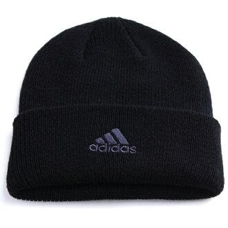阿迪達斯針織帽包裝類型抗菌除臭處理銀離子 Ag + 視像男式阿迪達斯帽子針織冬季針織帽 logo 戶外運動品牌冷滑雪板滑雪針織帽子婦女 / 黑色無邊帽帽聖誕禮物