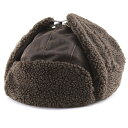フライトキャップ ヴィンテージ風 トラッパー 飛行帽 ウェザードコットン weathered cotton DPC 帽子 メンズ サイズ豊富 大きいサイズあり 60cm 冬 コーデ トレンド ファッション 帽子 レディース 耳あて付き ボア あったかい ユニセックス / 茶 ブラウン flying cap