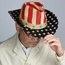 帽子 メンズ ストローハット テンガロンハット レディース アメリカ 星 春夏 ヘンシェル 星条旗 中折れ帽 カウボーイ ハット 衣装 HENSCHEL ブランド 個性的 ワイヤー入りで変形可能 イベント ウエスタンハット 麦わら帽子 ナチュラル cowboy hat straw hat