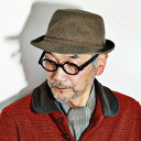 帽子 ハット メンズ ボルサリーノ アルペン型ハット スウェード風高級ベビー素材 borsalino ライトブラウン 中茶 [alpine hat] 送料無料 (秋冬用 秋冬商品 帽子 ぼうし おしゃ