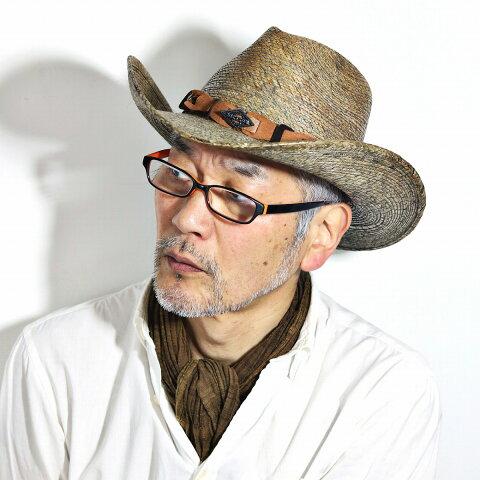 HAT CO ステットソン MONTERREY BAY 染め パームブレード カウボーイ ハット メキシコ製 STETSON ストローハット ワイドブリム 中折れ帽 メンズ ウェスタン インポートハット 輸入 紳士 春 夏 カーキ [ cowboy hat ] [ straw hat ] 父の日 ギフト おすすめ プレゼント