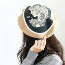 ベレー帽 秋冬 日本製 バラ色の帽子 カメオベレー レディー...