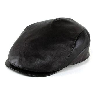 DAKS 是狩獵男人 daks 帽子秋天或冬天鴨子狩獵羊皮狩獵皮革狩獵的帽紳士皮革製品皮革做日本英國品牌棕色茶 (牛蒡和帽子店時裝時尚禮品) 常春藤戴帽的納帕皮革 2 音調高帽子