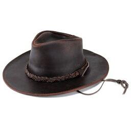 ヘンシェル 本革 カウボーイハット レザー 帽子 1154-23 乗馬 ウエスタン ハット メンズ レディース USA ブラウン テンガロンハット カウボーイ ハット HENSCHEL (テンガロン ウェスタンハット カウレザー レザーハット ウエスタンハット 紳士帽子 ぼうし) 父の日