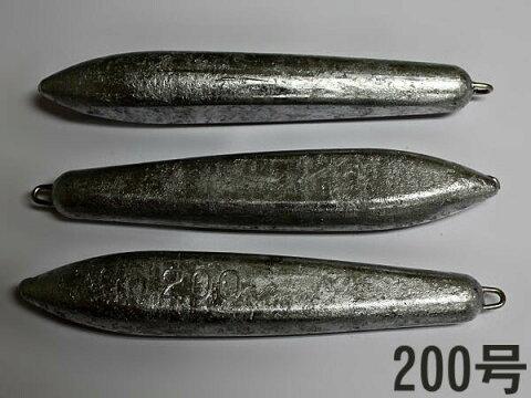 片カンオモリ【200号x3個セット】 魚釣り用 おもり・錘