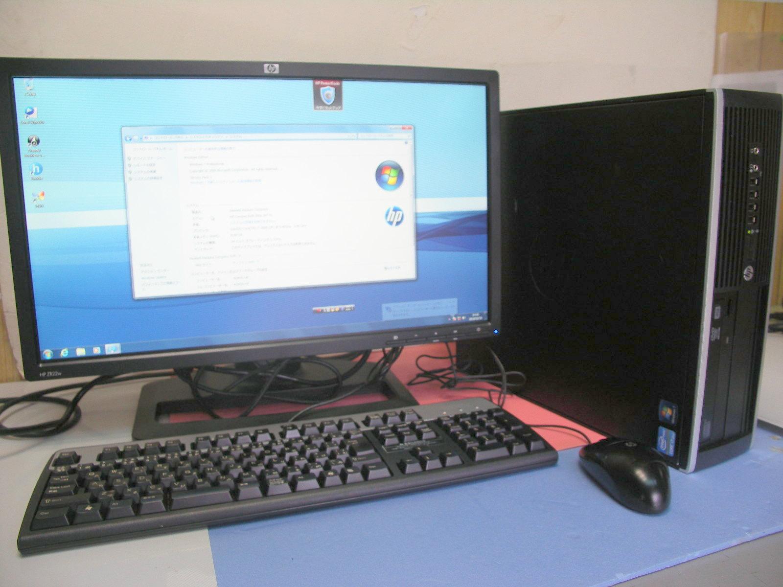 HP 8200 i7 3.2GHz 8GB 500GB  WINDOWS7 22インチセット【中古】【送料無料】【あす楽対応】