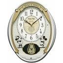 【SEIKO CLOCK セイコークロック】 Disney ディズニータイム 掛け時計 ミッキー&フレンズ 電波時計 ツイン・パ【FW567W】