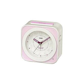 [凱西歐鬧鐘︰ 總是在畢業新生活的收音機鬧鐘與 [粉紅色白色 /TQT-261NJ-4JF] [銷售] 時鐘報警慶祝禮物加入入口禮物類比時鐘和鬧鐘