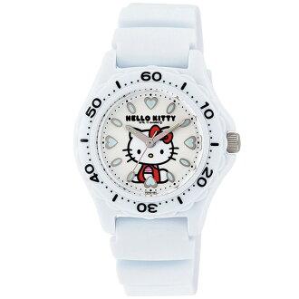 你好凱蒂手錶看三麗鷗字元 10 壓力防水防水類比禮物禮品女士孩子婦女兒童孩子白色的公民凱蒂貓 Kitty 凱蒂貓時鐘