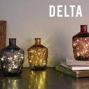 【インテリア 照明 LED】Bottle Light DELTA ボトルライト デルタ コードレス おしゃれ ガラス タイマー 間接照明 照明器具 コンパクト ハンドメイドガラス ギフト プレゼント SIMPLE MINED シンプルマインド