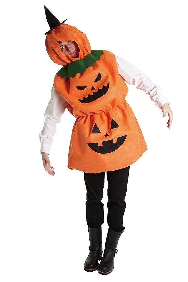 【コスプレ ハロウィン】だんごパンプキン コスチューム 仮装【halloween】かぼちゃ パンプキン 衣装 ハロウィーン 結婚式 二次会 余興 忘年会 新年会 出し物 歓迎会 送迎会 おもしろ 可愛い メンズ 男性 着ぐるみ