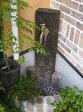 立水栓 水栓柱 ガーデニング 木製枕木立水栓(真鍮色蛇口付き) 水回り ガーデン水栓柱 DIY