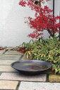 水鉢 水鉢 信楽焼大型水鉢いぶし Lサイズ ガーデングッズ 水遣り 水やり 水生植物の育成に
