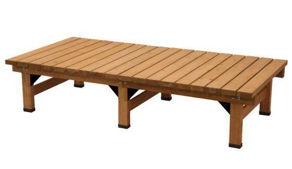 ガーデンチェアベンチ縁台 杉材デッキ縁台