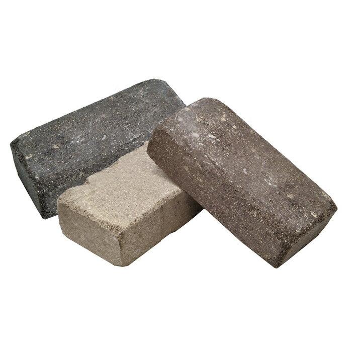 レンガ煉瓦耐火レンガブロック敷き敷石アンティーク10個/箱ブリックススプレッド並形チャコールグレーミ