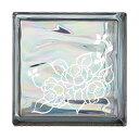 ガラスブロック 屋外壁 間仕切壁 壁飾り 日本 デザインガラスブロック 柄:バラ2 色:ウェービーグレー 1個単位 190×190×80mm リフォーム 新築 DIY アプローチ