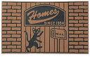 玄関マット 屋外用 アメリカン ブラウン 黒猫 エントランスマット 泥落とし マット