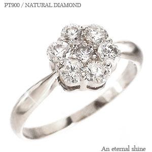 【送料無料】ダイヤモンドリング プラチナ900(PT900) 0.50ct フラワー 7石 指輪 レディース【コンビニ受取対応商品】  【SSS】【10%off】 注目度アップのフラワーピンキーはいかが♪