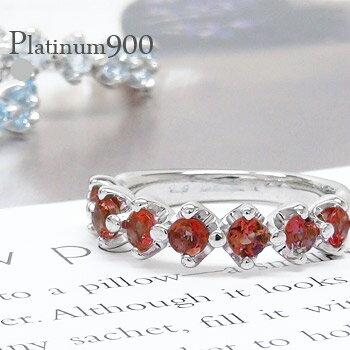 カラーストーンハーフエタニティリング プラチナ900 pt900 3.0mm 指輪 レディースジュエリー【送料無料】【コンビニ受取対応商品】  ホワイトデー プレゼント 毎日したいのは「シンプル&大好き」なリング
