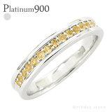 【】pt900 カラーストーンリング ハーフエタニティ 誕生石 プラチナ900 指輪 レディース