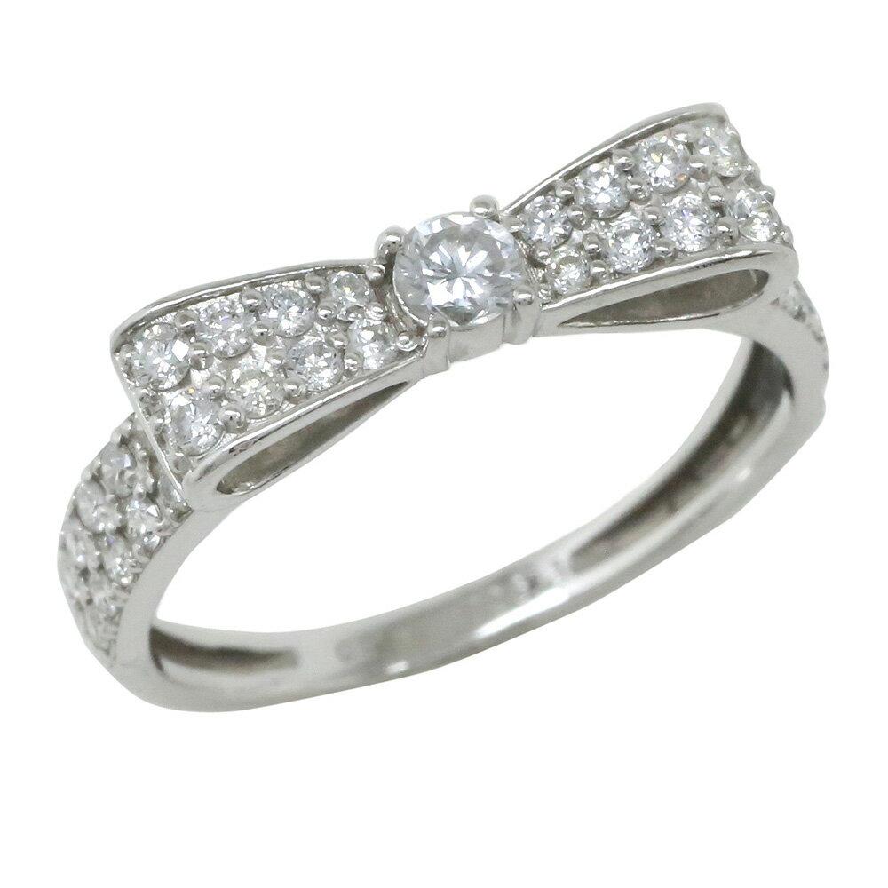 リボン ダイヤモンド リング プラチナ900 ダイヤ 0.50ct 指輪 レディース アクセ アクセサリー【送料無料】【コンビニ受取対応商品】