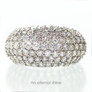 【送料無料】パヴェ ダイヤリング 天然ダイヤモンド3.0ct K18ゴールド パヴェ リング 指輪 18金 レディース【コンビニ受取対応商品】  【SSS】【10%off】 熟練職人のパヴェセッティングダイヤリング