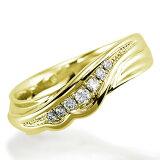 ペアリング(女性用) 結婚指輪 マリッジリング 結婚記念 K18イエローゴールド ダイヤモンドリング 《Nourish M0982L》 【刻印無料 ケース付き 】【レビューを書いて