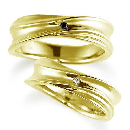 ペアリング(2本セット) 結婚指輪 マリッジリング 結婚記念 K18イエローゴールド ダイヤモンドリング 《Nourish M0979》 【刻印無料 ケース付き 送料無料】 【RCP】 【532P17Sep16】 高品質・ハイクォリティー【質と量】