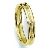 ペアリング(女性用) 結婚指輪 マリッジリング 結婚記念 K18イエローゴールド ダイヤモンドリング 《Prime M0035L》 【刻印無料 ケース付き 】【レビューを書いてクオ