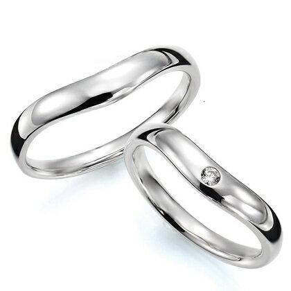 ペアリング(2本セット) 結婚指輪 マリッジリング 結婚記念 K18ホワイトゴールド 《Prime M0033》 ダイヤモンドリング ギフト 【刻印無料ケース付き 送料無料】 【RCP】 【532P17Sep16】 高品質・ハイクォリティー