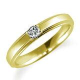 ペアリング(女性用) 結婚指輪 婚約指輪 マリッジリング K18イエローゴールド ダイヤモンドリング 0.1ct 《Proud M1037L》 【刻印無料 ケース付き 】【レビュー