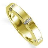 ペアリング(女性用) 結婚指輪 マリッジリング 鍛造製法 K18イエローゴールド ダイヤモンドリング 《Solid M0925L》 【刻印無料 ケース付き 】【レビューを書いてクオ